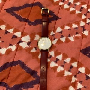 NWOT KATE SPADE BROWN LEATHER WATCH